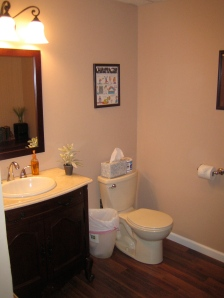The repaired bathroom...